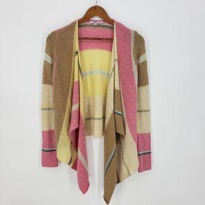 Calypso St. Barth Striped Wool Blend Cardigan